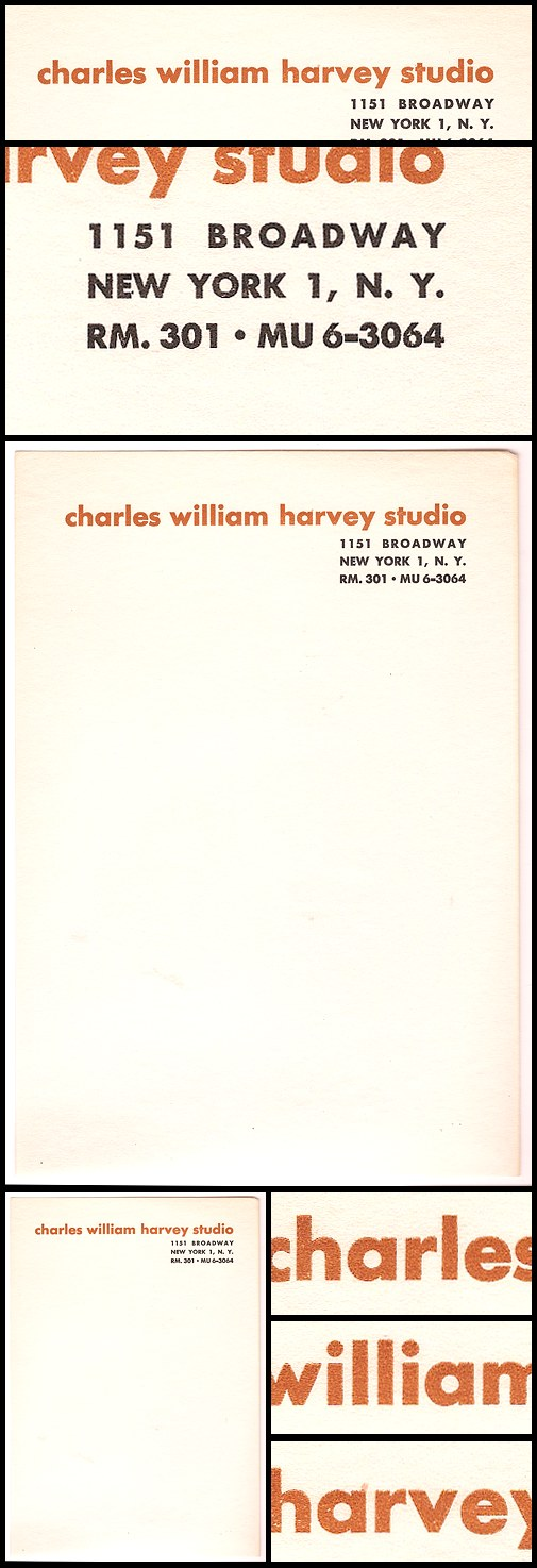 01. Charles William Harvey Studio Letterhead (1948-49)
