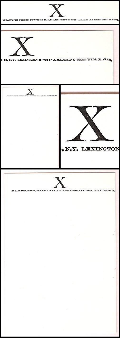 04. X Letterhead (1956)