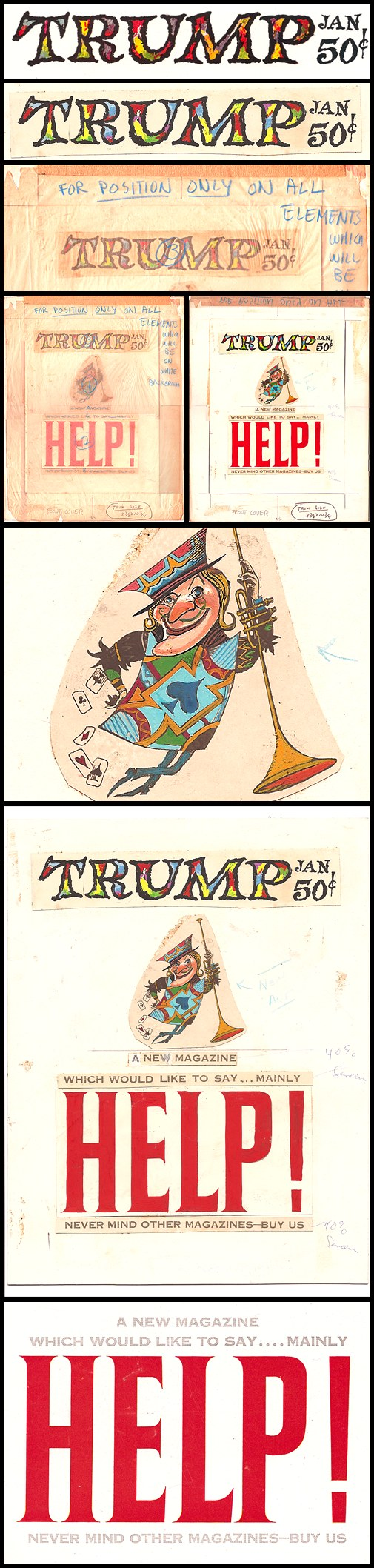 09. Trump #1 Cover Art, Pt. 1 (Jan 1957)