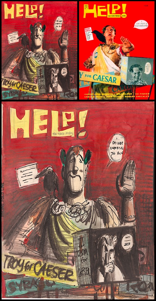 48. Help! #1: Cover Rough (Aug 1960)