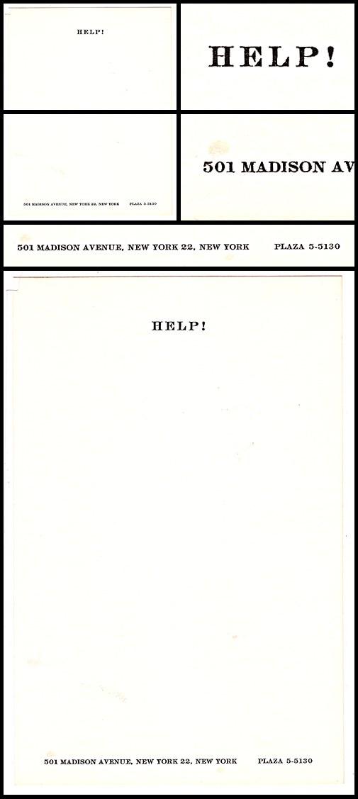 47. Help! Letterhead (ca. 1960)