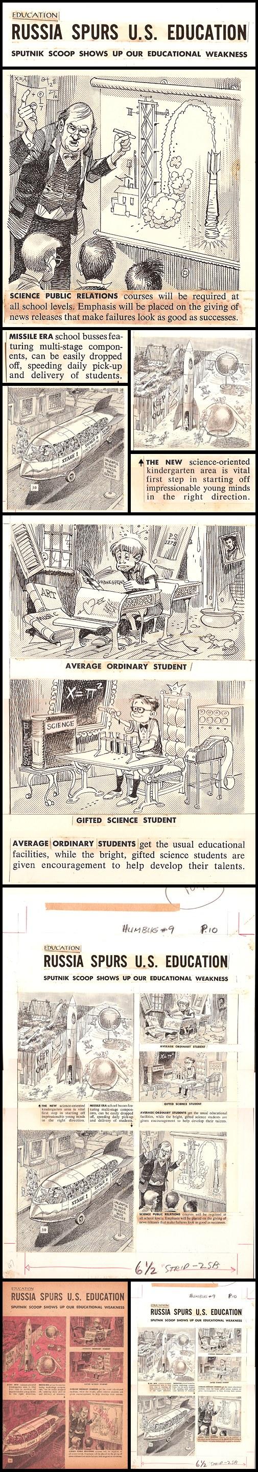 "39. Humbug #9: ""Russia Spurs U.S. Education"" by Jack Davis (May 1958)"