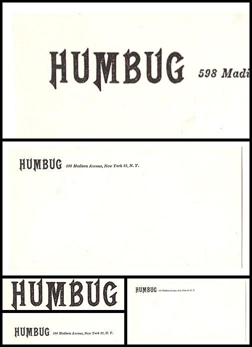 18. Humbug Envelope (1957-58)