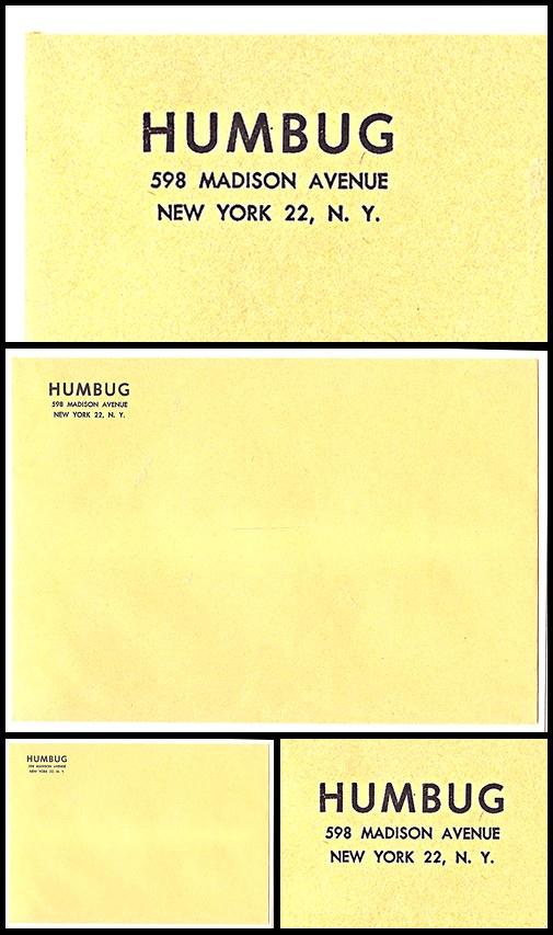 20. Humbug Subscription Envelope (1957-58)