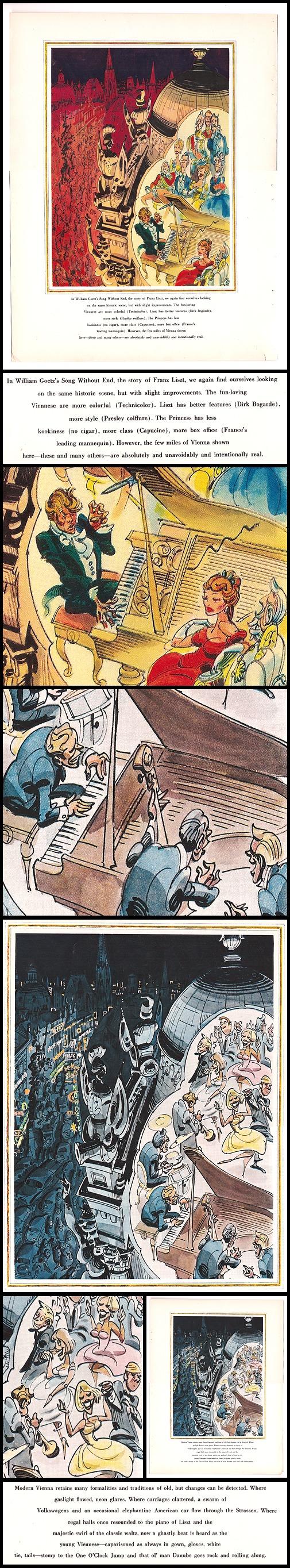 "46. Esquire: ""Vienna, Views #2 (Hollywood) & #3 (Harvey Kurtzman)"" Tearsheets (Jun 1960)"